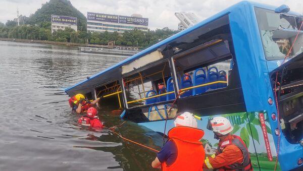 Un accidente de autobus en China - Sputnik Mundo
