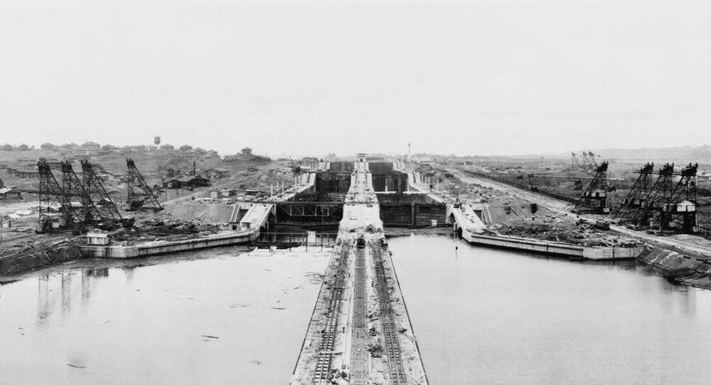 La construcción del Canal de Panamá en 1913