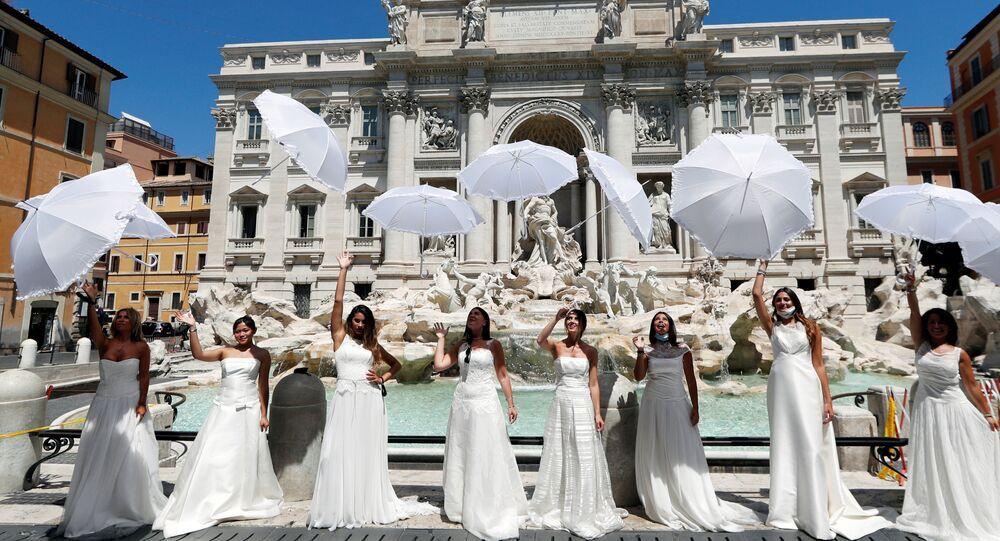 Protestas de novias en Roma, Italia