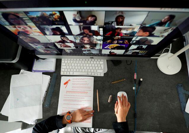 Una clase online durante la pandemia