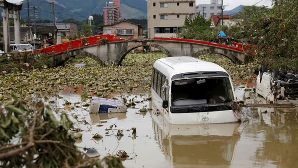 Consecuencias de las fuertes lluvias en Japón - Sputnik Mundo