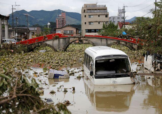 Consecuencias de las fuertes lluvias en Japón