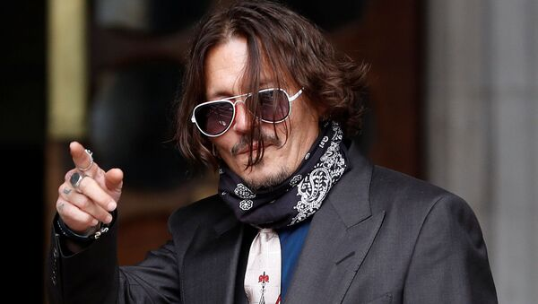 Johnny Depp, actor estadounidense - Sputnik Mundo