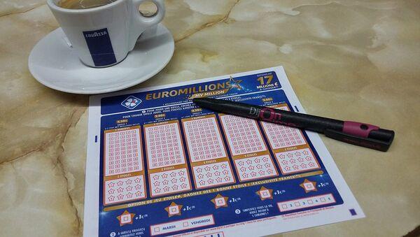 Tarjeta del sorteo Euromillones - Sputnik Mundo