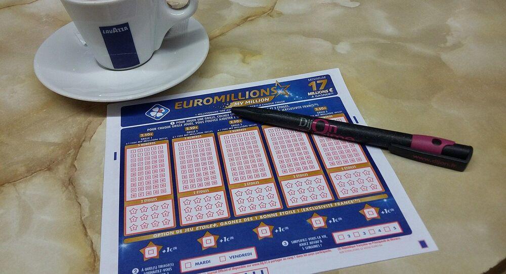 Foto referencial de una tarjeta del sorteo Euromillones