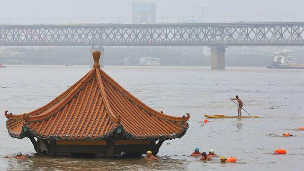 Las inundaciones en China, referencial - Sputnik Mundo