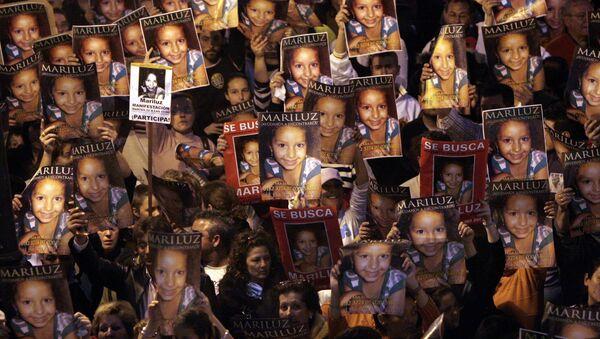 Manifestación de 2008 por la búsqueda de la niña Mari Luz Cortés, en Huelva  - Sputnik Mundo