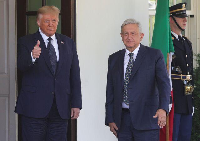 Los presidentes Donald Trump y Andrés Manuel López Obrador