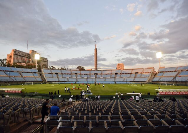 El Estadio Centenario en Montevideo, Uruguay