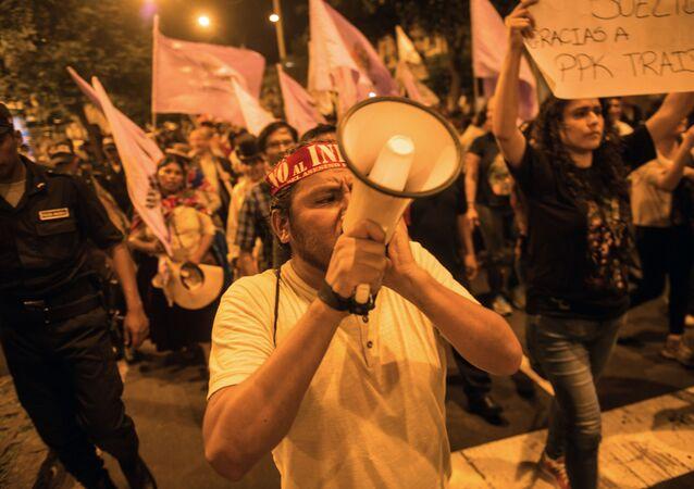 Protestas en Lima, Perú (archivo)