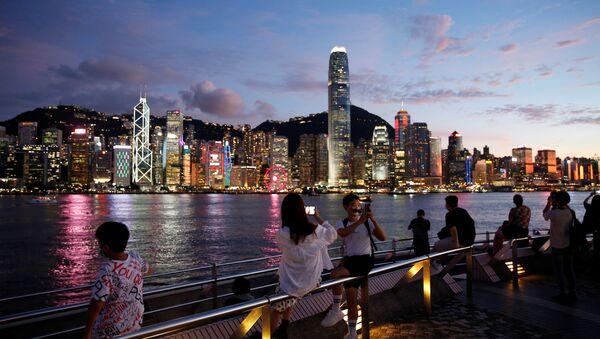 Vista general sobre los rascacielos de Hong Kong - Sputnik Mundo