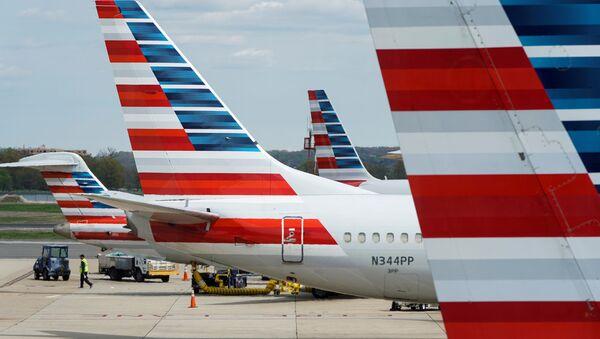 Aeronaves de la compañía estadounidense American Airlines - Sputnik Mundo