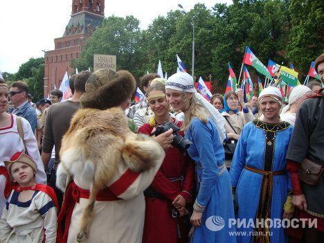 Miles de moscovitas festejan los Días de la Escritura y la Cultura Eslavas