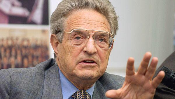 El financiero e inversor estadounidense George Soros - Sputnik Mundo
