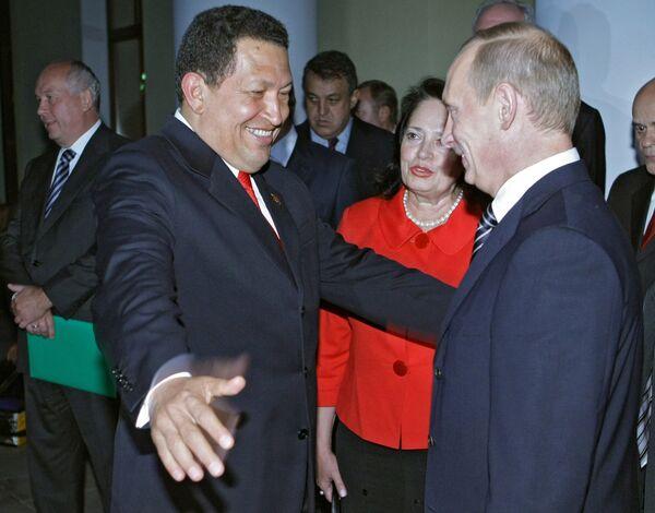Встреча В. Путина с У. Чавесом - Sputnik Mundo