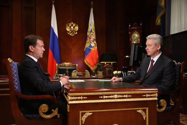 El presidente ruso, Dmitri Medvédev, ha propuesto hoy al viceprimer ministro Serguei Sobianin para el cargo de alcalde de Moscú. - Sputnik Mundo