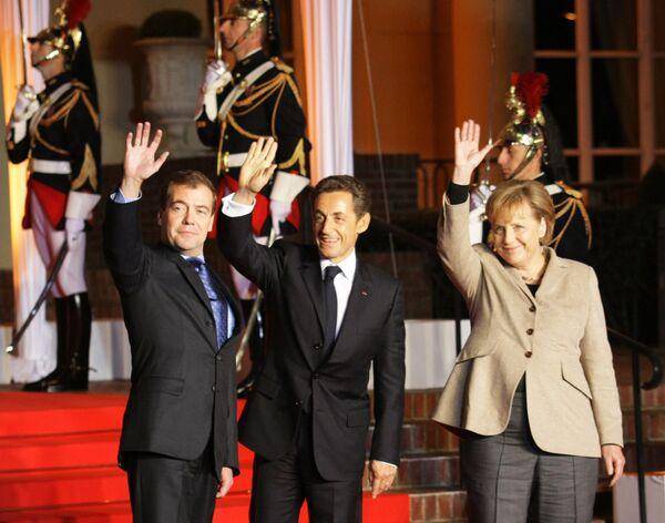 La cumbre tripartita entre Francia, Alemania y Rusia en Deauville - Sputnik Mundo