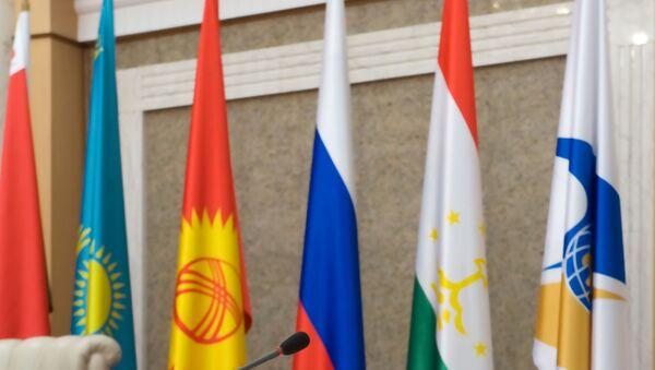 Banderas de país la Unión Económica Euroasiática - Sputnik Mundo
