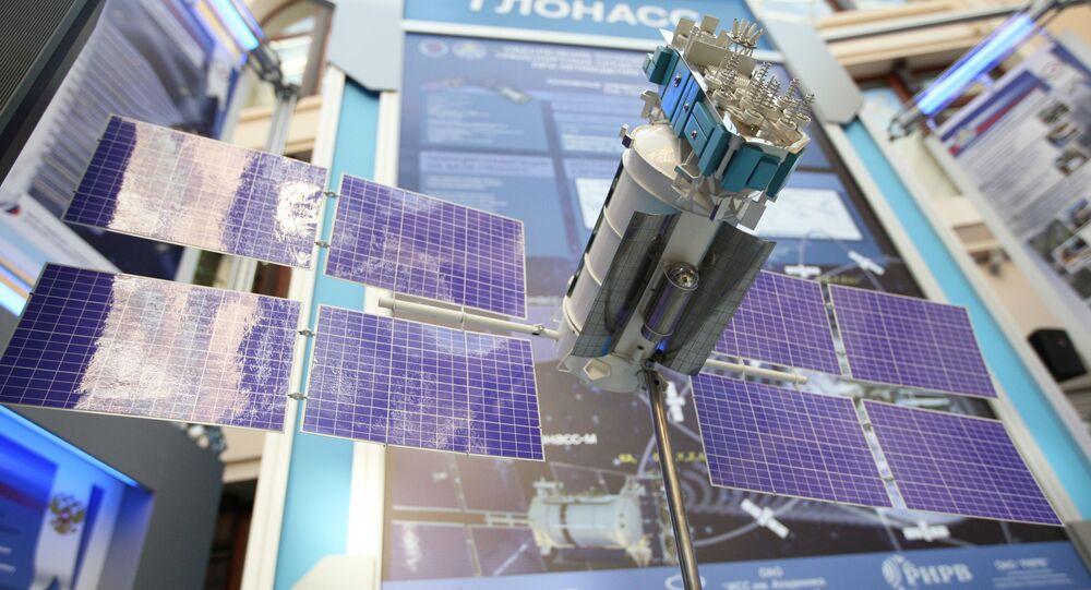 Maqueta del satélite ruso Glonass (archivo)