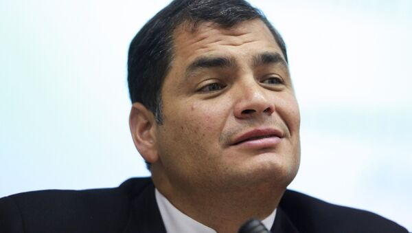 Ecuador President Rafael Correa at Peoples Friendship University of Russia (PFUR) - Sputnik Mundo