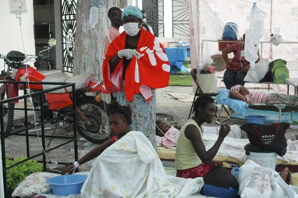 Un brote de cólera en Haití - Sputnik Mundo