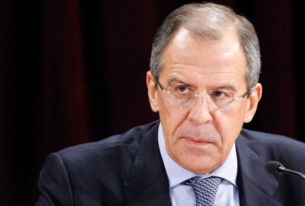 El ministro ruso de Asuntos Exteriores Serguei Lavrov - Sputnik Mundo