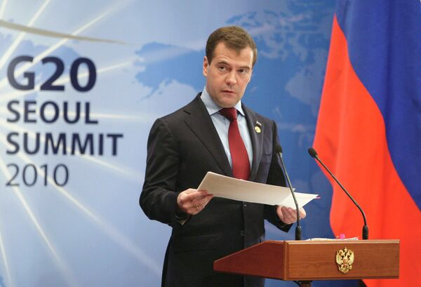 El presidente de Rusia Dmitri Medvédev - Sputnik Mundo