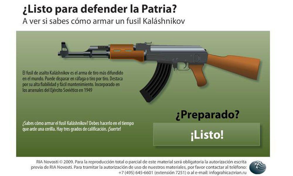 Y tu ¿podrás armar con rapidez fusil Kalashnikov?