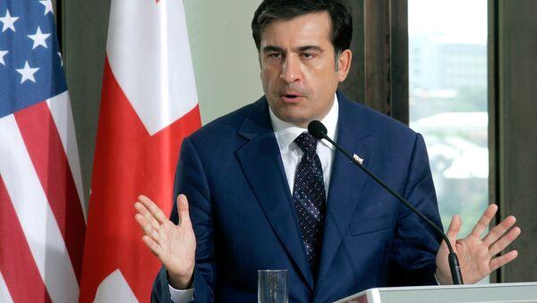El presidente de Georgia, Mijaíl Saakashvili - Sputnik Mundo