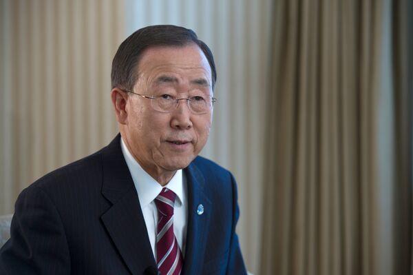 El secretario general de las Naciones Unidas, Ban Ki-moon - Sputnik Mundo