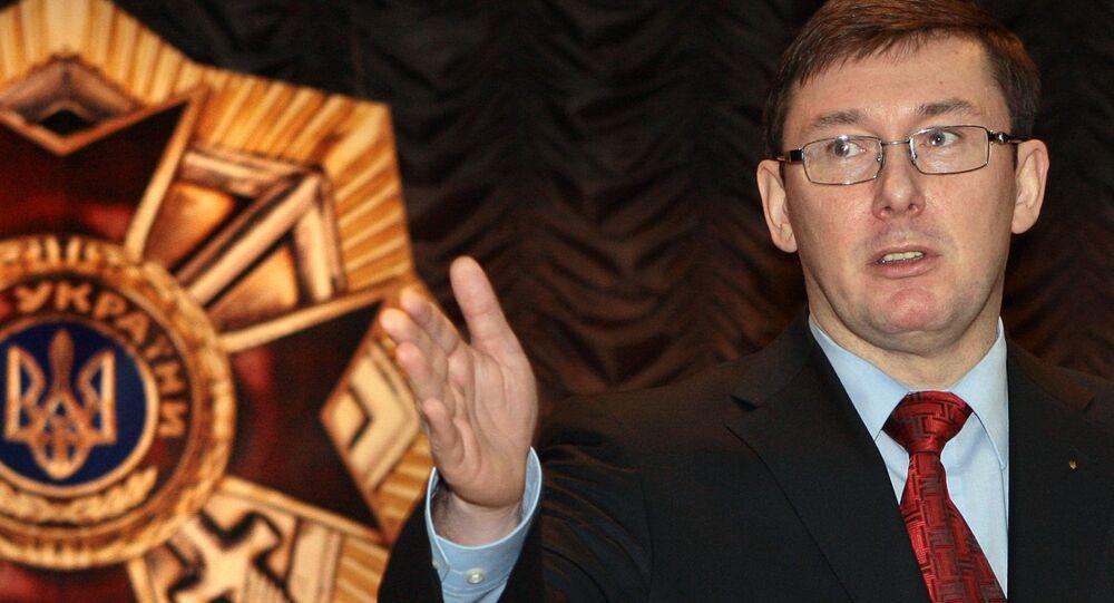 El fiscal general de Ucrania, Yuri Lutsenko
