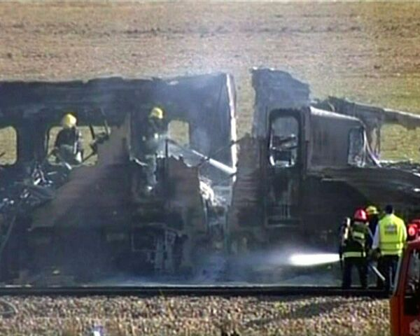 Incendio en tren con pasajeros causa más de un centenar de heridos en Israel - Sputnik Mundo