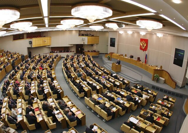 Un plenario de la Duma Estatal
