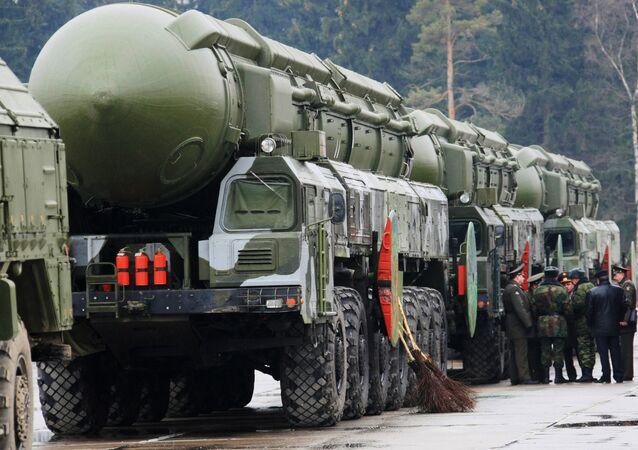 Los misiles balísticos Topol-M (Archivo)