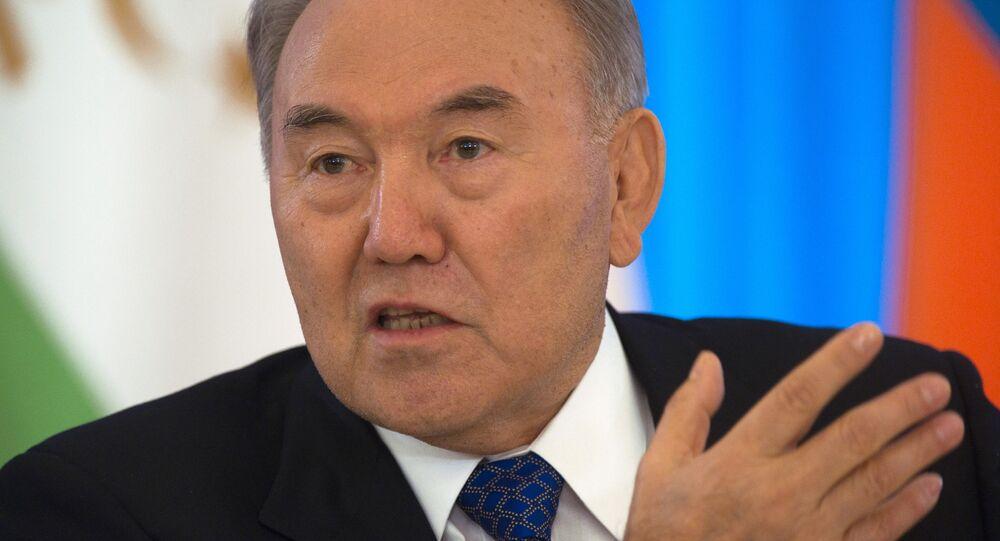 El presidente de Kazajstán, Nursultán Nazarbáev