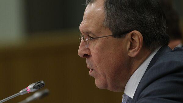 El ministro de Exteriores de Rusia, Serguéi Lavrov - Sputnik Mundo