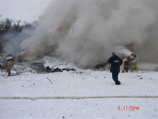 Lugar del accidente aéreo en la provincia rusa de Bélgorod - Sputnik Mundo