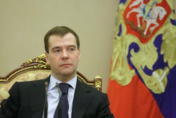 El presidente ruso Dmitri Medvédev - Sputnik Mundo