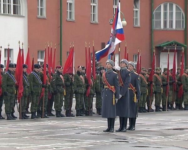 Portaestandartes rusos ensayan para desfilar el 9 de Mayo - Sputnik Mundo