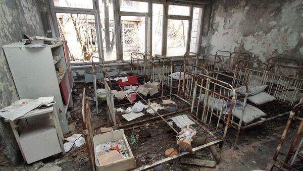 Una guardería en la ciudad de Prípiat en la zona de exclusión de Chernóbil - Sputnik Mundo
