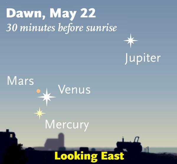 Cuatro planetas a la vez se podrán observar juntos el miércoles - Sputnik Mundo