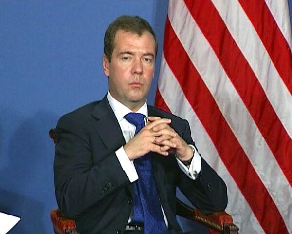 Medvédev y Obama intensificarán integración de Rusia en OMC - Sputnik Mundo