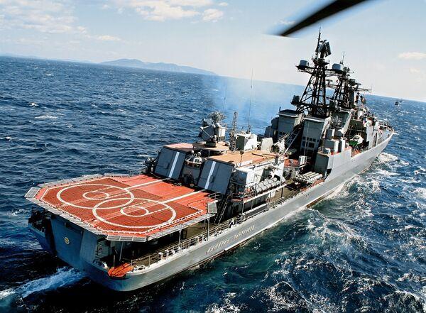 El destructor antisubmarino 'Almirante Panteleev' - Sputnik Mundo