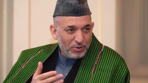 El presidente de Afganistán Abd El Hamid Karzai - Sputnik Mundo