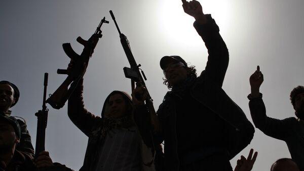 Opositores en Libia - Sputnik Mundo