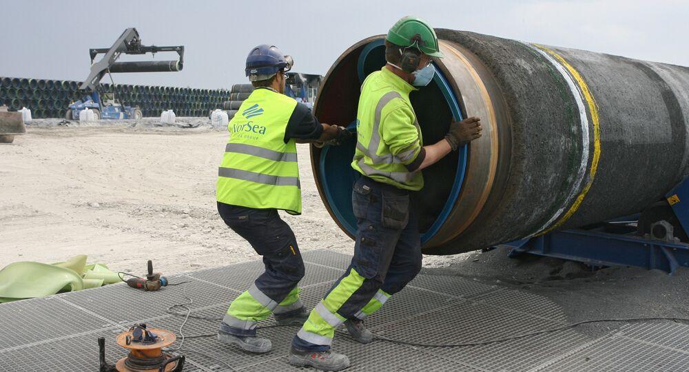 Construcción del gasoducto Nord Stream (archivo)
