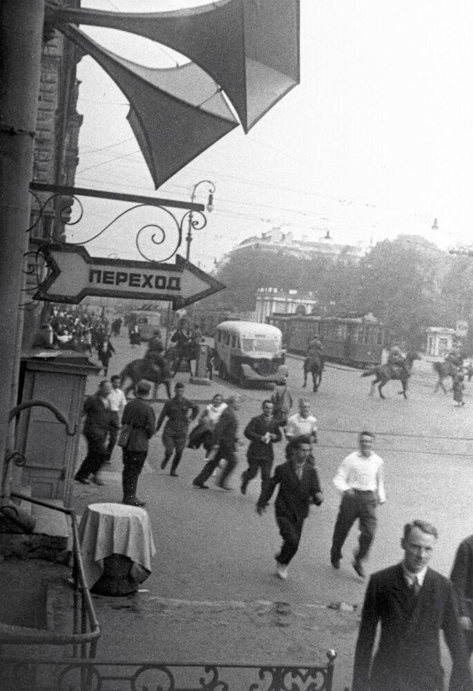 Alerta aérea en Leningrado