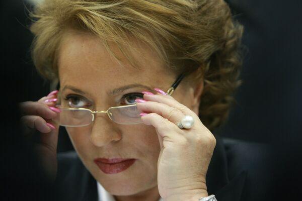 Presidenta del Consejo de la Federación de Rusia, Valentina Matvienko - Sputnik Mundo