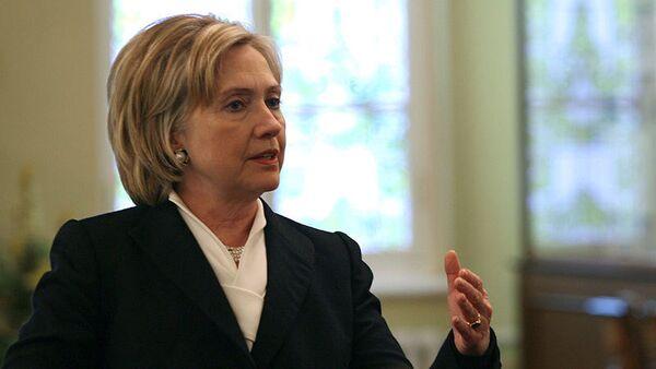 La secretaria de Estado de EEUU Hillary Clinton - Sputnik Mundo