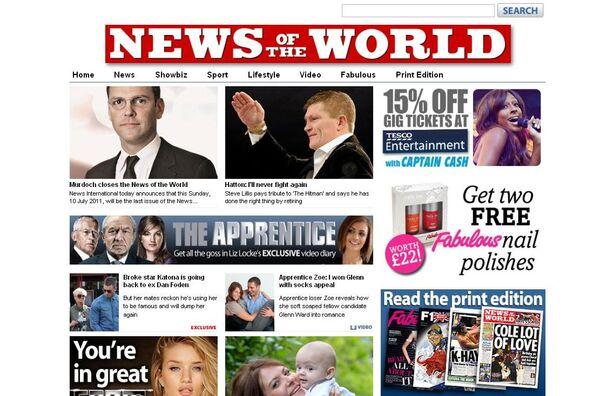 """Tabloide  """"News of the World"""" se despide de sus lectores tras verse envuelto en numerosos escándalos - Sputnik Mundo"""